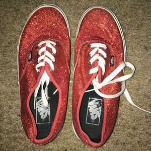 Red Sparkly Vans